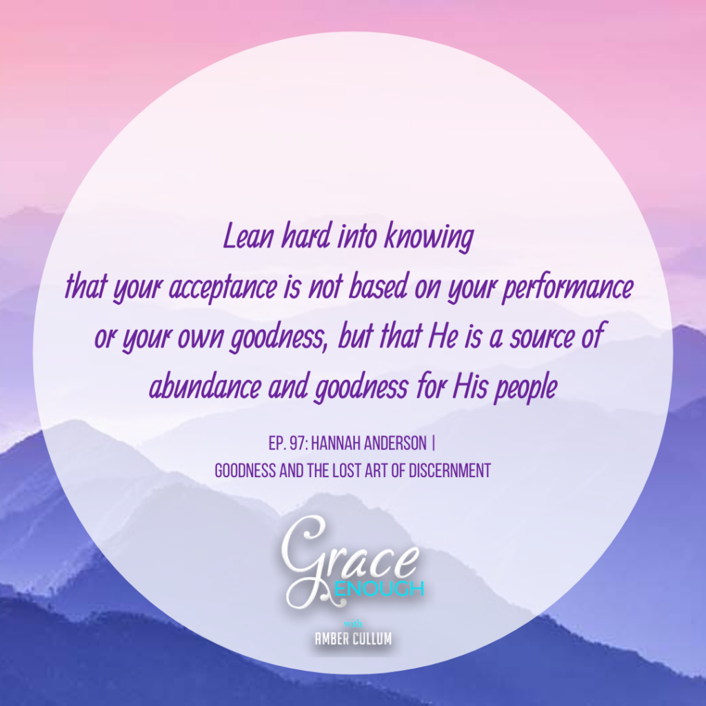 Hannah Anderson | Goodness and The Lost Art of Discernment Quote