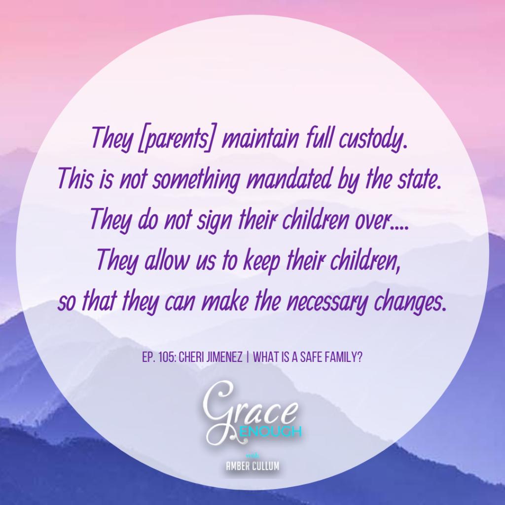 Cheri Jimenez Quote about Safe Families for Children