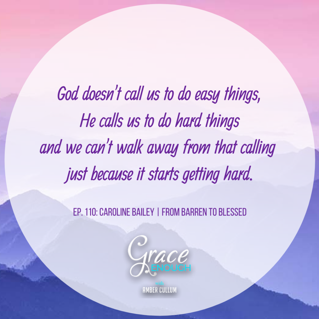 Caroline Bailey Quote   Barren to Blessed