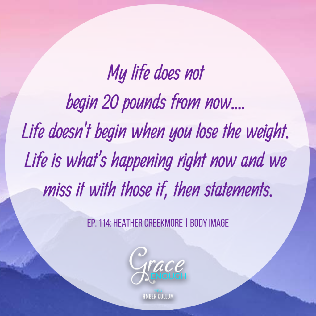 Body Image Quote: Life does not begin 20 pounds from now. It's happening right now