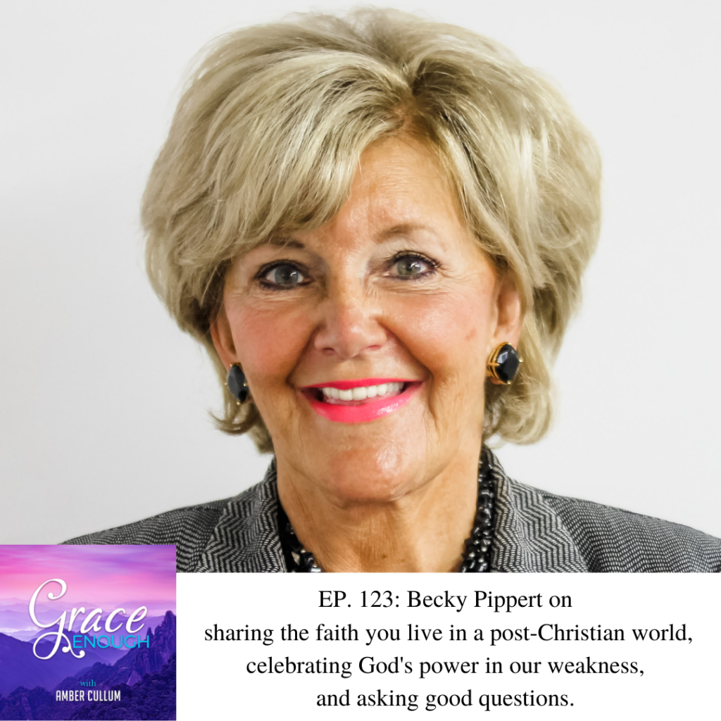 Rebecca (Becky) joins me to discuss sharing the faith you live in a post-Christian world, celebrating God's power in our weakness, and asking good questions like Jesus.