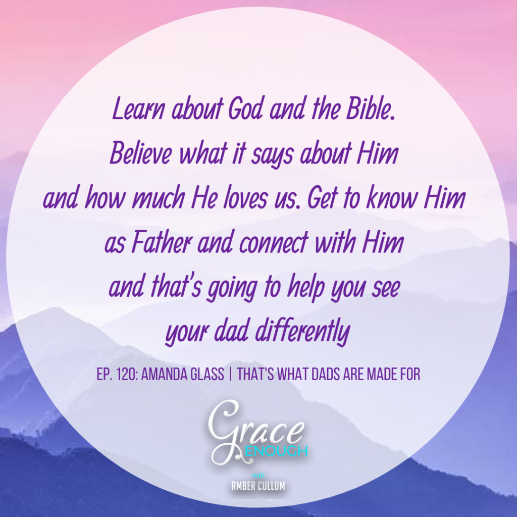 Get to know the God of the Bible. God as father and it will help you relate to your dad differently