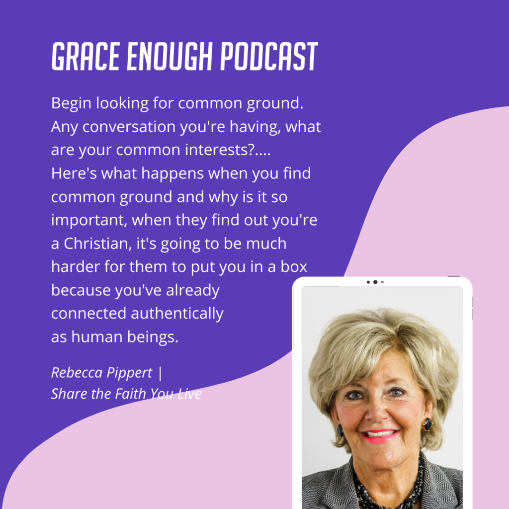 Begin looking for common ground. Any conversation you're having, what are your common interests?.... Here's what happens when you find common ground and why is it so important, when they find out you're a Christian, it's going to be much harder for them to put you in a box because you've already connected authentically as human beings.